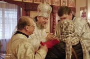 В Лазареву субботу глава Нарвской епархии совершил Литургию на Архиерейском подворье в Нарва-Йыэсуу_17